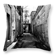 Back Alley Throw Pillow