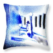 Back Alley Rendezvous Throw Pillow