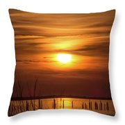Back Bay Sunset Throw Pillow