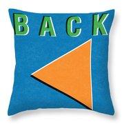Back Button Throw Pillow