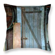 Back Corner Closet Throw Pillow