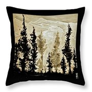 Back Country  Throw Pillow