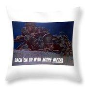 Back 'em Up -- Ww2 Throw Pillow