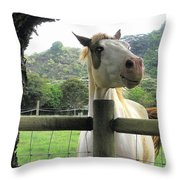 Back Fence Gossip Throw Pillow