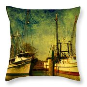 Back Home In The Harbor Throw Pillow
