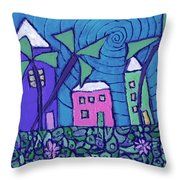 Back Home On The Island Throw Pillow