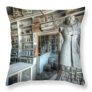 Back In 5 - The General Store, Bodie Ghost Town Throw Pillow