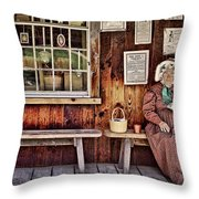 Back In The Days Throw Pillow