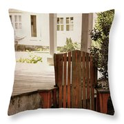 Back In  Porch Time Throw Pillow