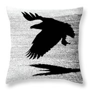 Back Lit Beauty On Ice Throw Pillow