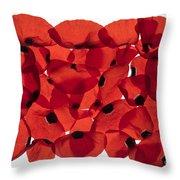 Back Lit Flower Petals  Throw Pillow
