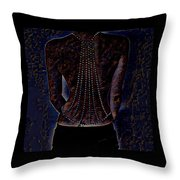 Back Of Beads Throw Pillow