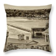 Back Of Water Works Throw Pillow