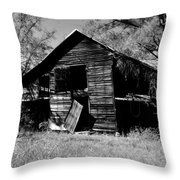 Back On The Farm Black And White Throw Pillow