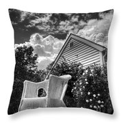 Back Porch Rocking Chair Throw Pillow
