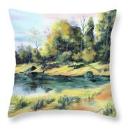Back River Solitude Throw Pillow