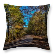 Back Road 5 Throw Pillow