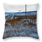 Back Road Throw Pillow