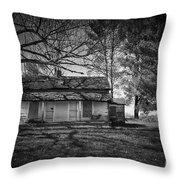 Back Road Farm House Throw Pillow