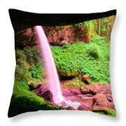 Back Side Of Silver Falls Throw Pillow