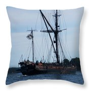 Back Side Pirates Throw Pillow