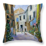 Back Street Throw Pillow
