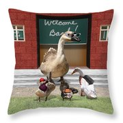 Back To School Time Throw Pillow