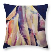 Back To The Background Throw Pillow