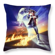 Back To The Future 1985 Throw Pillow
