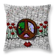 Back To The Green Nature With A Angel Smile Throw Pillow