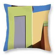 Back To The Market Throw Pillow