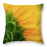Back View Of Sunflower Throw Pillow