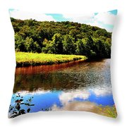 Backbone State Park - Dundee, Ia Throw Pillow