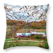 Backcountry Farm Throw Pillow