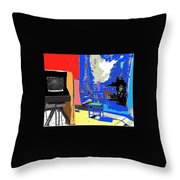 Backdrop  Traveling Tintype Photographer John A. Coffer  Tombstone Arizona 1980-2009 Throw Pillow