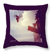 Backflip Descent Throw Pillow