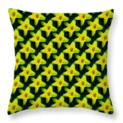 Background Choice Daffodils Throw Pillow