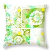 Colour Choice Poppy Collage Throw Pillow