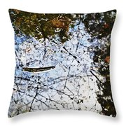 Background Nature Green Throw Pillow