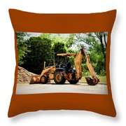 Backhoe And Loader 12118 Throw Pillow