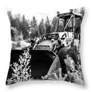 Backhoe Loader Junk Throw Pillow