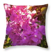 Backlit Bougainvillea Throw Pillow