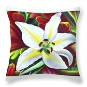 Backlit Lilly Throw Pillow