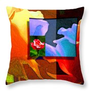Backlit Roses Throw Pillow