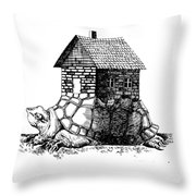 Backpack-house Throw Pillow