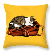 Backpack Nap Throw Pillow