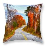 Backroads Vermont Throw Pillow