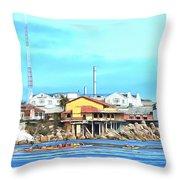 Fishermans Wharf 2 Throw Pillow