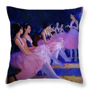 Backstage Throw Pillow by Kevin Lawrence Leveque
