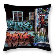 Backstreet Throw Pillow by Joanna Madloch